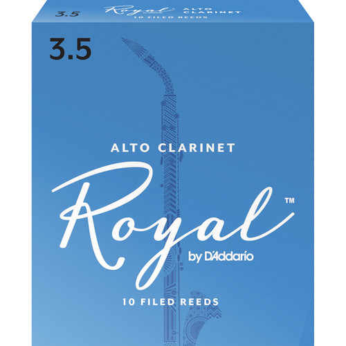Rico Royal Alto Clarinet Reeds, Strength 3.5, 10-pack