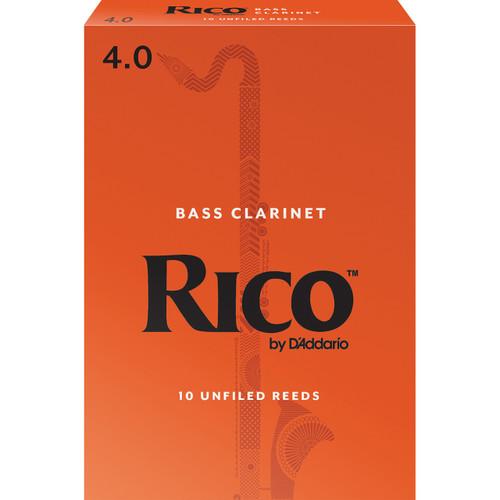 Rico Bass Clarinet Reeds, Strength 4.0, 10-pack