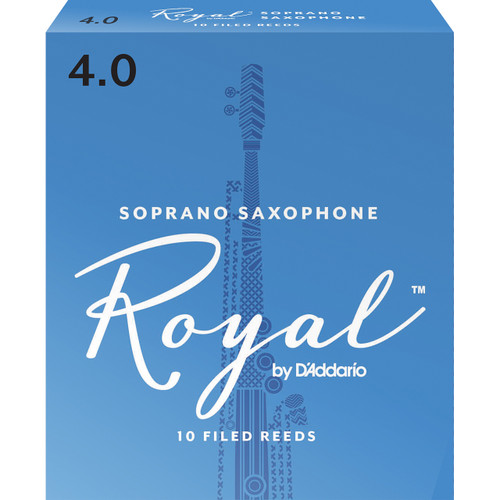 Rico Royal Soprano Sax Reeds, Strength 4.0, 10-pack