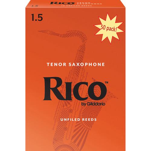 Rico Tenor Sax Reeds, Strength 1.5, 50-pack