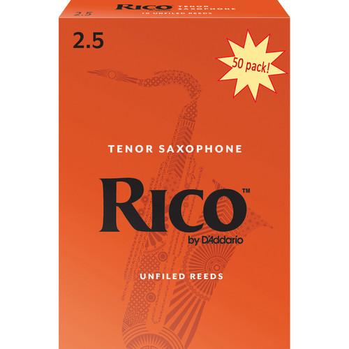Rico Tenor Sax Reeds, Strength 2.5, 50-pack
