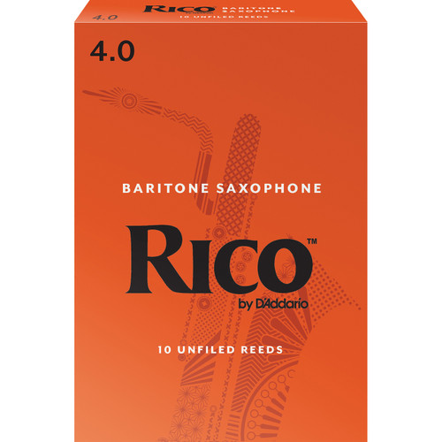 Rico Baritone Sax Reeds, Strength 4.0, 10-pack