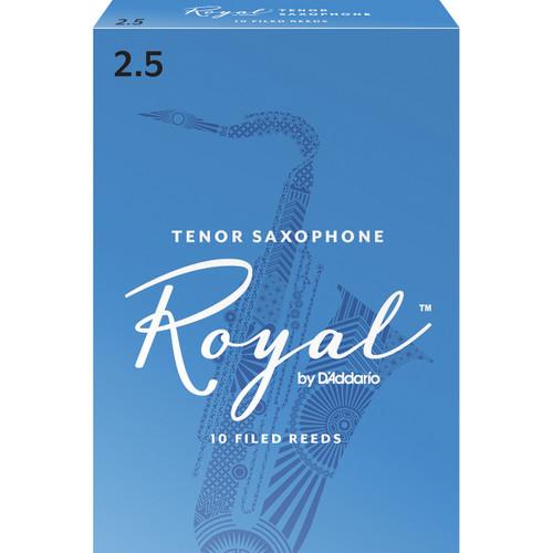 Rico Royal Tenor Sax Reeds, Strength 2.5, 10-pack