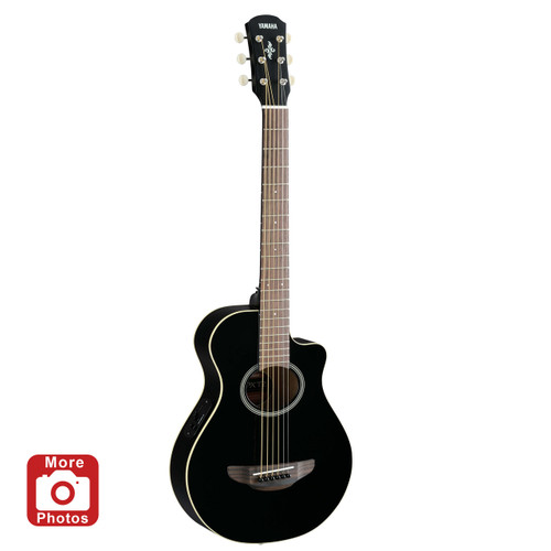 Yamaha APXT2BL Acoustic-Electric Guitar; Black; 3/4 Size