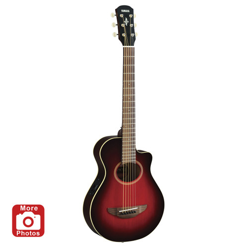 Yamaha APXT2DRB Acoustic-Electric Guitar; Dark Red Burst; 3/4 Size
