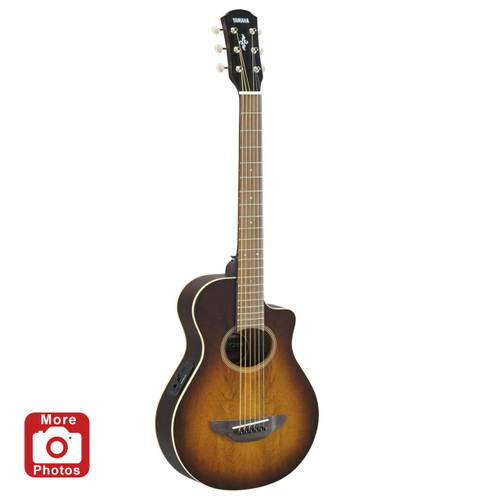 Yamaha APXT2EWTBS Acoustic-Electric Guitar; Exotic Wood; Tobacco Brown Sunburst; 3/4 Size