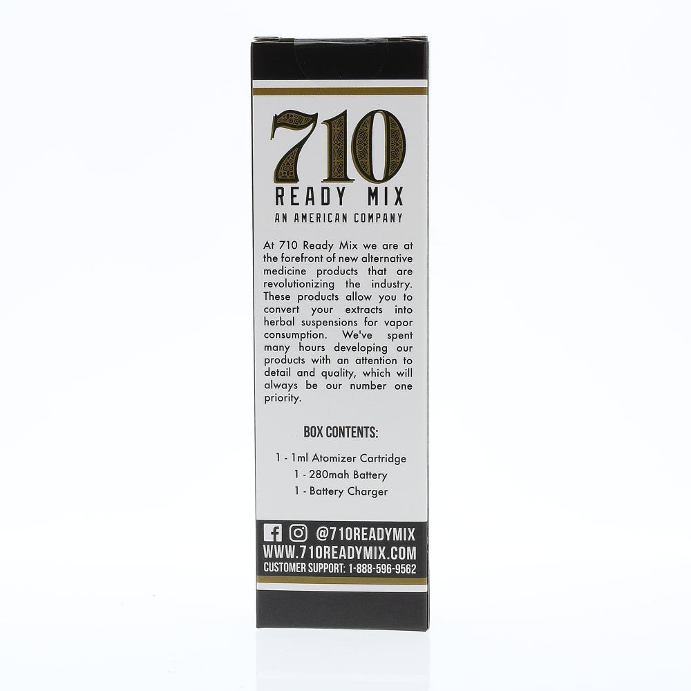 710 Ready Mix Pen Kit back box ingredients