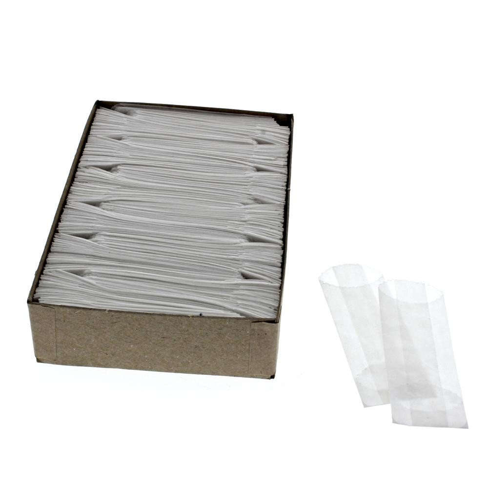 Wax Bags 22mm wide x 70mm long White 600ct
