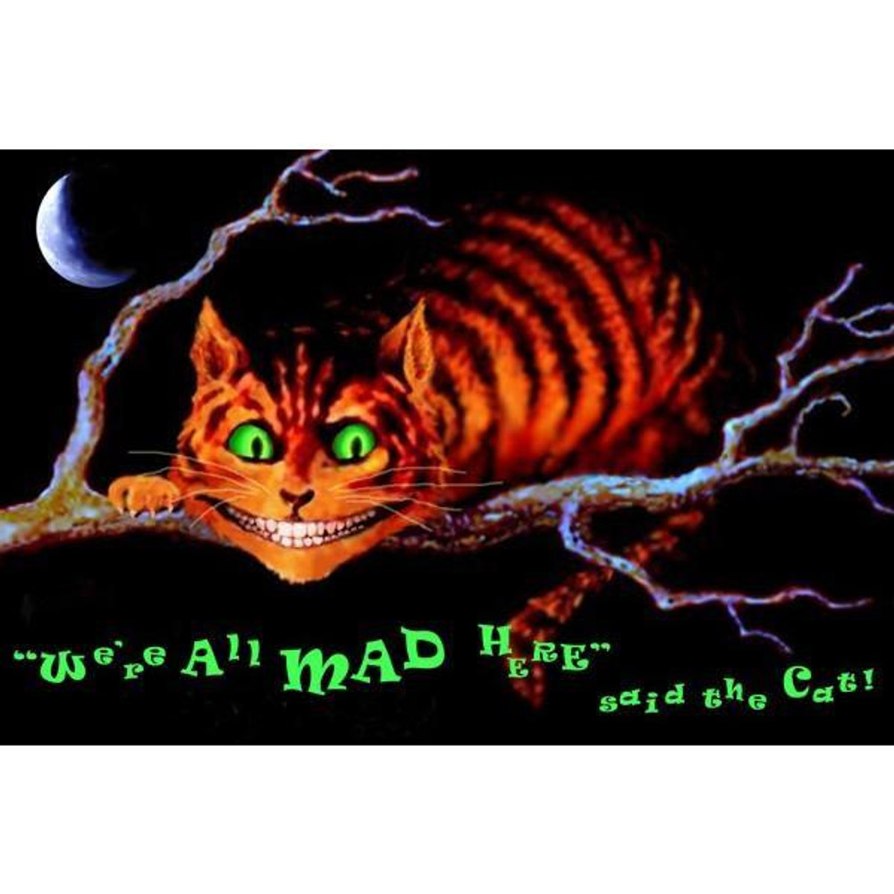 Mad Cat Black Light Poster