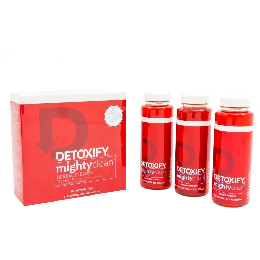 Detoxify Mighty Clean herbal cleanse package contents