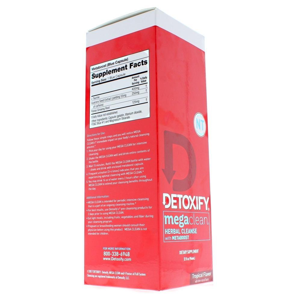 Mega Clean Premium NT with Metaboost 32 oz.  Detox Drink box