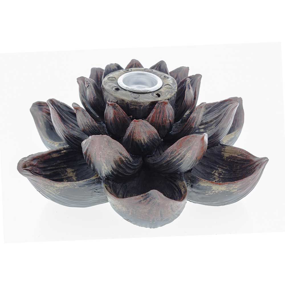 Lotus Flower Backflow Incense Burner Waterbeds N Stuff