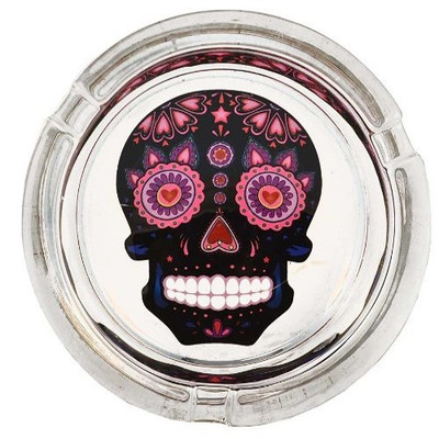Black Sugar Skull Ashtray