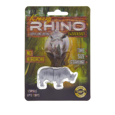 Krazzy Rhino 50,000 Male Enhancement Supplement