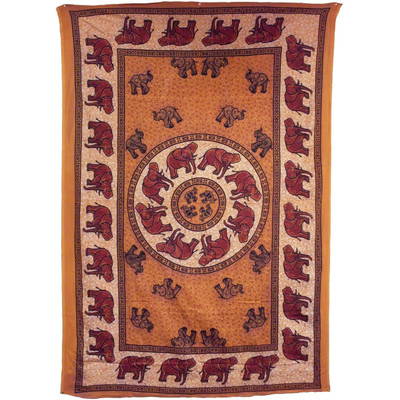 African Elephant Tapestry