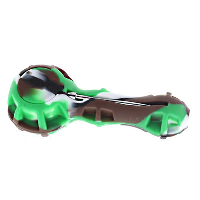 Silicone Hand Pipe with Built in Storage and Poker