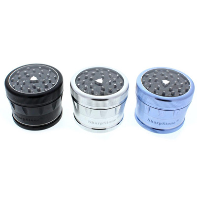 "Sharpstone 2.5"" Four Part Clear Top Grinder"