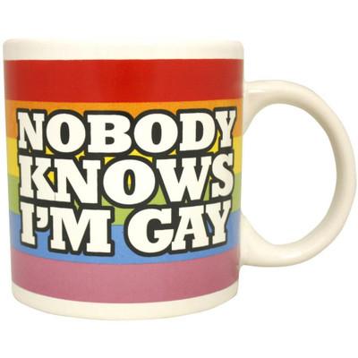 Nobody Knows I'm Gay Giant Mug