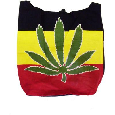 Rasta Leaf Hippie Bag