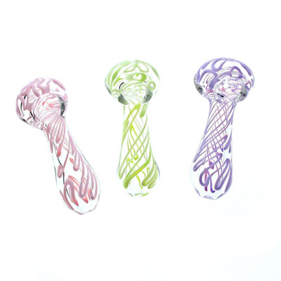 "3"" Slime Glass Handpipe in Assorted Colors"