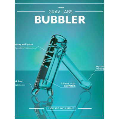 4 inch Grav Colored Bubbler