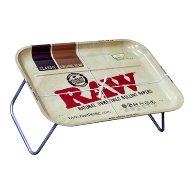 Raw Rolling Tray:  XXL Dinner Tray with Folding Legs