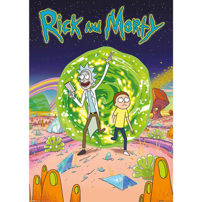 Step through to another dimension with this wall poster featuring the popular characters Rick and Morty.