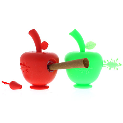 Silicone Apple Blunt Bubbler