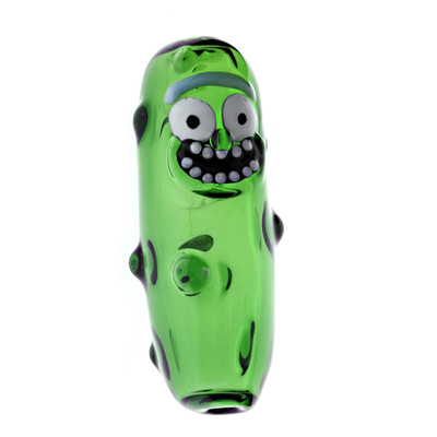 Pickle Rick Glass Hand Pipe