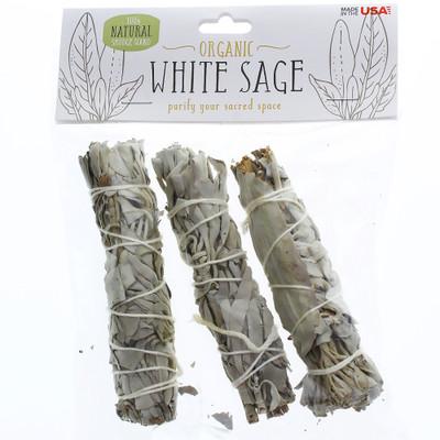 """White Sage 4"""" Bundle, 3-Pack"""