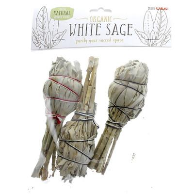 "White Sage 4"" Torch, 3-Pack"