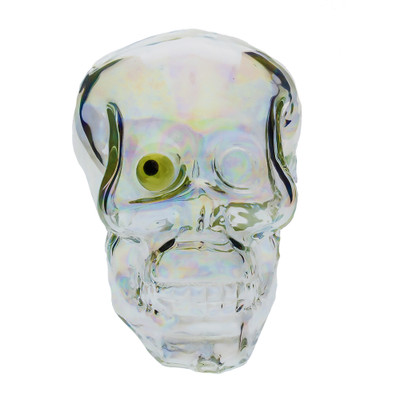 Large Skull Pipe with UV Reactive Eye