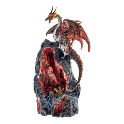 Dragon Cave Red Backflow Incense Burner