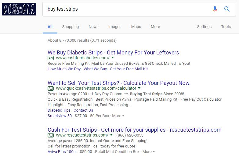 Google Buy Leftover Test Strips