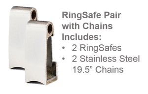 RingSafe Pair with Chains Keeps Two Rings Secure - Save 15%