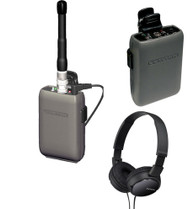 Comtek Bundle - Single Beltpack Receiver System with Sony Headphones