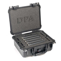 DPA d:mension™ 5006A SURROUND KIT WITH FIVE d:dicate™ 4006A, CLIPS AND WINDSCREENS IN PELI™ CASE