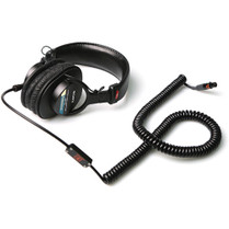 Remote Audio Modified Sony MDR-7506 with Electret Headset Coiled Quick-Release 5-Pin Female Binder to TA5F Cable (2-7')