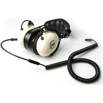 Remote Audio Modified HN7506 Headphones with Quick-Release 5-Pin Female Binder to TA5F Coiled Electret Headset Cable (2-7')