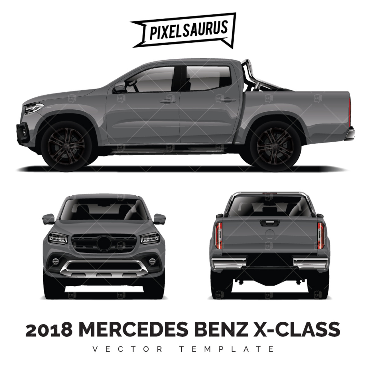2018 Mercedes Benz X-Class Vector Template