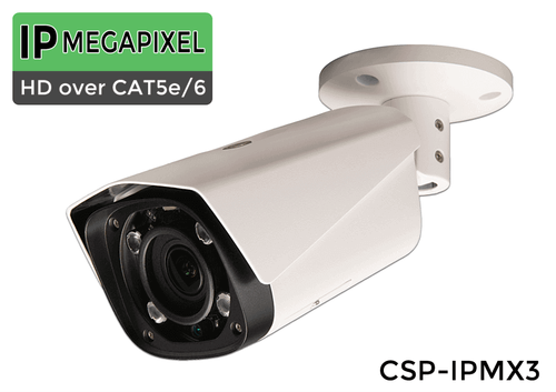 """MOTORIZED 4x ZOOM"" Indoor/Outdoor IP 3MP 1080 Infrared Bullet Camera with Motorized 4x Zoom Adjustable Lens (Night Vision Up to 180 Foot in Complete Darkness)"