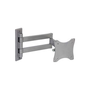 LCD TV Wall Mount, Silver Color, VESA 75/100 compliant, 33 lbs Capacity, 45 Degree Tilt, 180 Degree Lateral Rotation