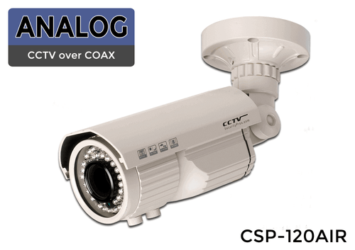 Color Infrared 1000 Lines Super High Resolution Infrared Bullet Camera with 2.8-12mm Vari-focal Lens - See Up to 120 Foot In Darkness