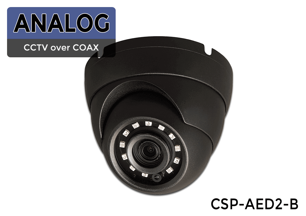 Indoor/Outdoor Infrared Vandal Dome Camera with Sony Image Sensor and 1000 Lines of Resolution (Over 90 Foot in Complete Darkness)