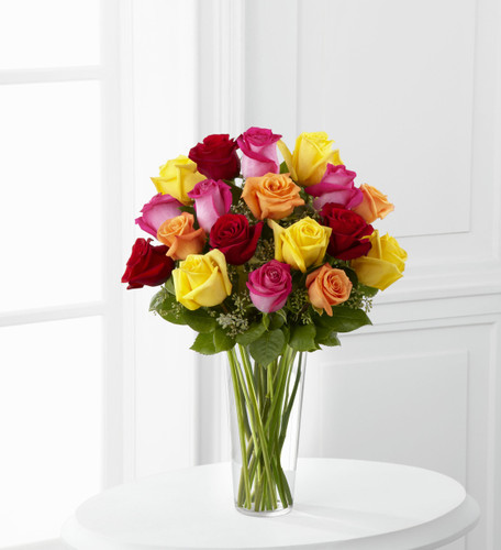 Bright Spark Rose Bouquet Simi Valley Flower Delivery