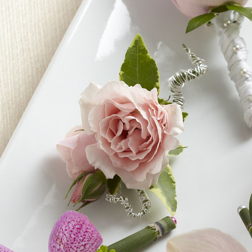 Pink Spray Rose Boutonniere Simi Valley Florist