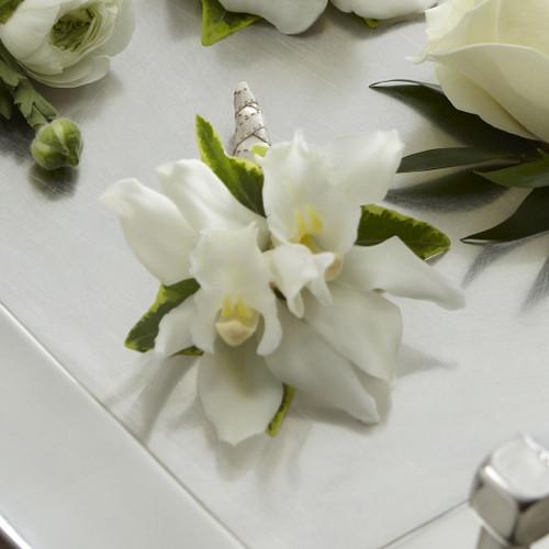 White Mini Cymbidium Boutonniere Simi Valley Flower Delivery