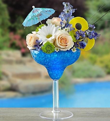 Blue Hawaiian Floral Margarita
