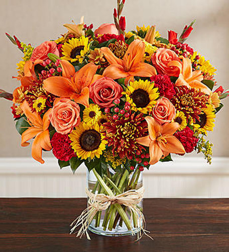 Sincerest Sorrow™ Fall EXCLUSIVE The passing of a loved one often brings together close family and friends. To help you express your sincerest sentiments, our caring florists have handcrafted this elegant autumn arrangement. Filled with an abundance of rich, colorful blooms, it's a thoughtful way to celebrate a life beautifully lived while providing peace to those who will miss someone very special.
