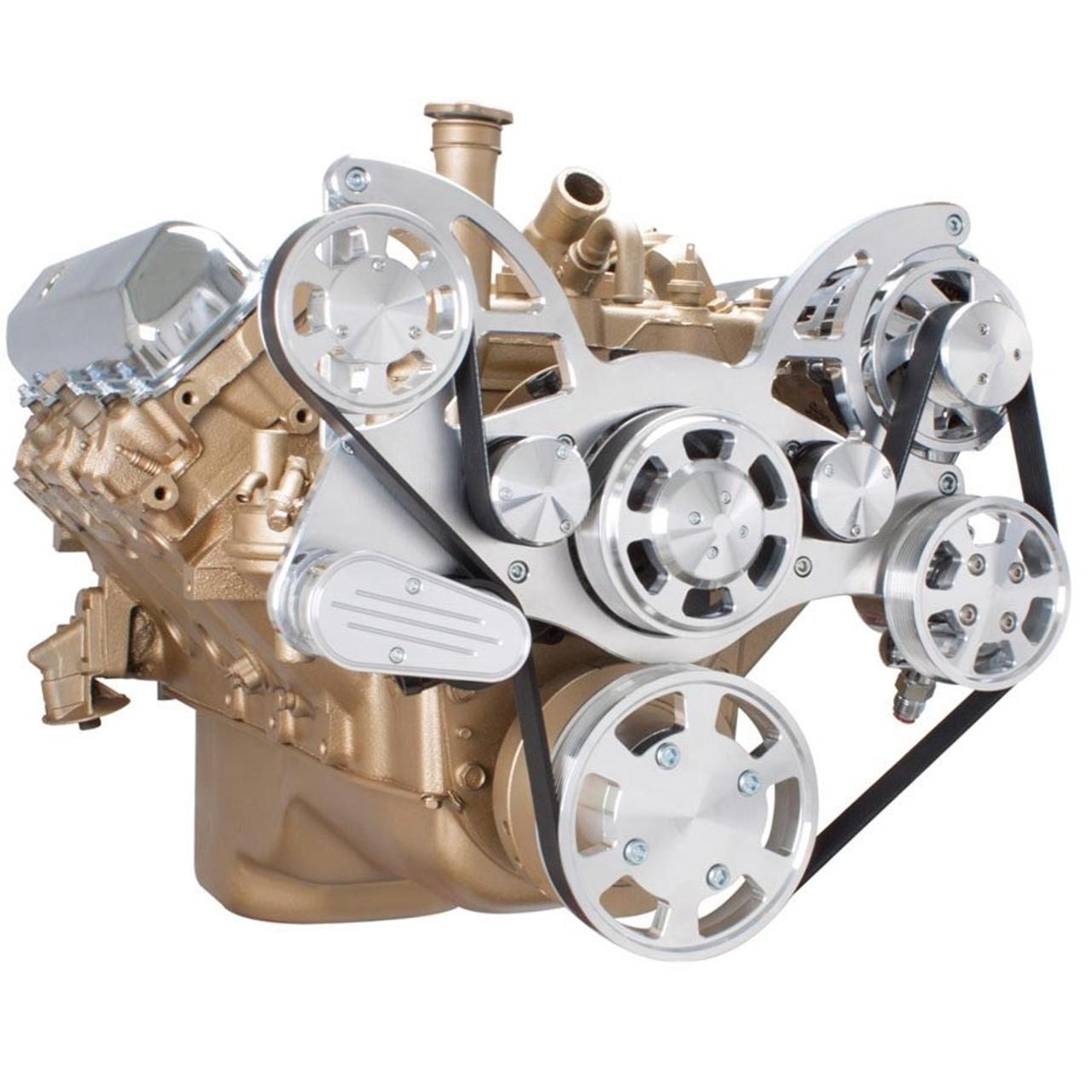 Serpentine Conversion Kit For Oldsmobile 350 455 With Power. Serpentine System For Oldsmobile 350455 Power Steering Alternator. Wiring. 455 Olds Engine Belt Diagram At Scoala.co